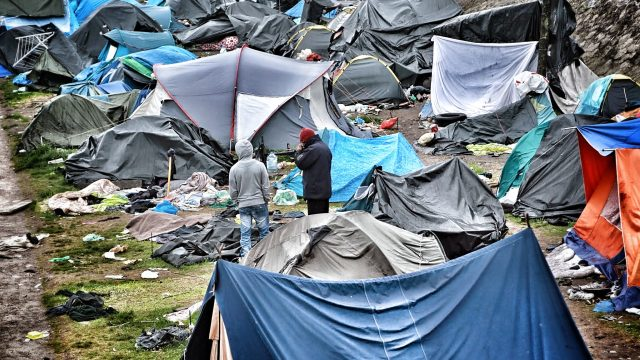 A migrant camp in Calais
