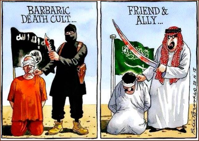 ISISvsSaudiCartoon
