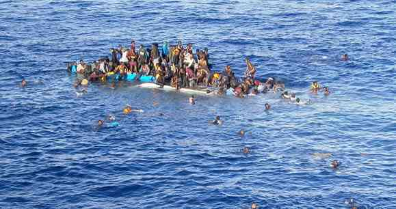 Migrants drawning in the Mediteranean April 2015